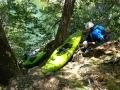 Royal Gorge: Wabenna Falls, přenášíme