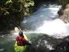 Untertalbach: JKB v nájezdu do slajdu pod vodopádem