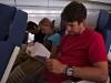 Čtenářský kroužek při zpátečním letu