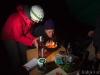 Terka likviduje svíčky na svém dortu