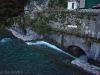 Roya: celá řeka je v Breilu kvůli rekonstrukci přehrady svedená do tunelu. Strašidelný.