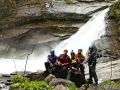Ribo: the crew below the waterfall