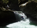 Isorno: George Srbek just below the slot waterfall
