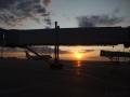 Svítání po přistání v Novosibirsku