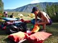 Terka balí na první multiday, řeky Karagem a Argut