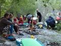 Argut: druhý camp na Argutu kousek za přítokem Koir