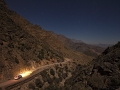 Noční jízda k Wadi Bimah