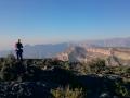 Krátce po rozbřesku při výstupu na Jebel Shams