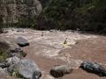 Rio Teno mělo výrazně víc vody než minule, takže jsme měli poctivou řeku na rozpádlování