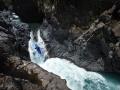 Terka Svobodová na prvním skoku Siete Tazas řeky Rio Claro